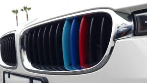 Carbon Fiber Strip Stripe M Colored Grill Kidney Vinyl Sticker Decal NEW BETTER!