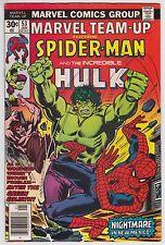 Marvel Team-Up #53 VF+ 8.5 Spider-Man The Hulk John Byrne Art!
