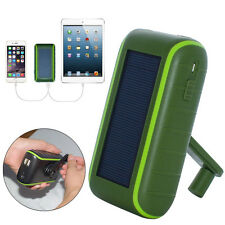 SUNEVER Original 5400mAh Double USB Hand Crank Emergency Solar Panel Charger
