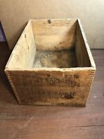 Rare Vintage Dupont Explosives Extra Dynamite Wood  Wooden Case / Crate / Box