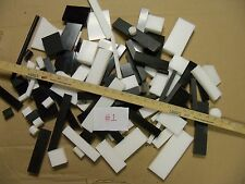Asst. Plastic Delrin/ Acetal Lot, White & Black sheet & block 100+ pieces CNC