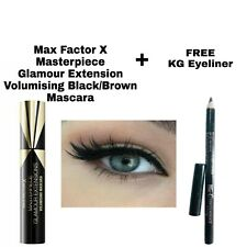 MAXFACTOR X MASTERPIECE GLAMOUR EXTENSION BLACK/BROWN MASCARA & FREE KG EYELINER