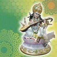 Porcelana Capodimonte. Divinidad Indiane. Saraswati, O Sarasvati
