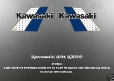 VINTAGE LIKE NOS KAWASAKI 1984 KX500 GRAPHICS DECALS