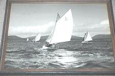 Vtg Art Photo DINGHY RACING Sailing BLACK & WHITE B&W Roten Gallery PHOTOGRAPH