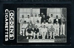 OGDENS TABS CRICKET-LONDON COUNTY v ALL IRELAND CARD-FEATURING W. G. GRACE