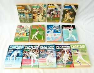 Playfair Cricket Annual Bundle 13 x Books Various Years from 1980 - 2013