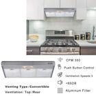 """36"""" Under Cabinet Kitchen Range Hood Stainless Steel Push Button 3-Speeds 350CFM photo"""