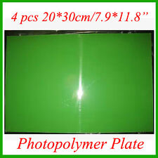 4 Sheets 20x30cm Photopolymer Plate Stamp Making DIY Craft Letterpress Polymer