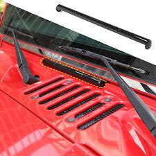Front Windshield Hinge Trim Exterior Accessory for Jeep Wrangler JK 07-17 Black