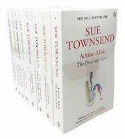 Sue Townsend Classics Collection Series Adrian Mole 8 Books Set Growing Pain