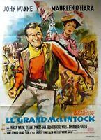 Plakat Kino Le Grand Mclintock - John Wayne Maureen O'Hara - 120 X 160 CM