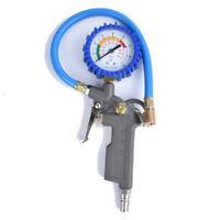 Druckluft Reifenfüller geeicht Reifenfüllpistole Manometer Auto Reifen 0-220psi