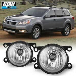 For 10-12 Subaru Outback Bumper Fog Light Lamp Replacement Clear Lens PAIR