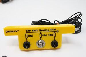 Anti Static ESD Grounding/Bonding Slim Line Bracket 2 x 4mm Banana & 1 x 10 Stud
