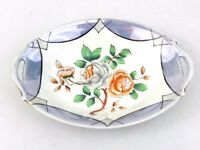 Vintage Porcelain Dish Small Blue & White Floral Bowl Made in Japan