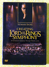Howard Shore Creating The Lord of the Rings Symphony  DVD Movie Video LOTR Musis
