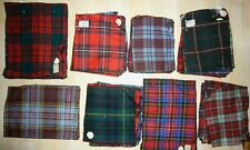 SCOTTISH TARTANS - SAMPLE FABRIC SWATCH SET COLLECTION - VINTAGE 1970's NUNROYD