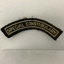 More details for obsolete 1940's special constabulary cloth shoulder flash badge patch