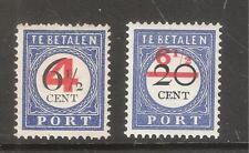 Nederland  Port  Nummer  29/30    Ongebruikt.