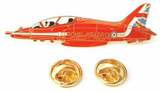 RAF Red Arrows Hawk Official Aeroplane Side View Enamel Lapel Pin Badge