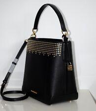 MICHAEL KORS Damen Tasche HAYES LG BUCKET SHLDR black/dark khaki 35F8GYEL3L