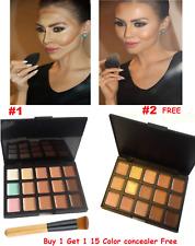 SQ1,15 Color Face Makeup Cream Palette & Brush , Buy 1 Get 1 Concealer SQ2 Free