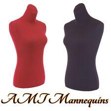 2 torso covers, to renew female mannequin torso size S, 2 nylon Jerseys-Rd+Blk