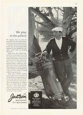 1959 Jantzen Sportswear Ken Venturi Vintage GOLF Bag Clubs Clothes PRINT AD