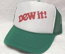 Mountain Dew it Trucker Hat Mesh Hat Snap Back Hat green