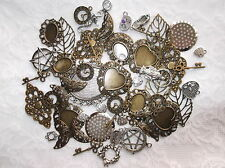 20 X MIXED METAL EMBELLISHMENTS -SILVER TONE, BRONZE TONE AND MIXED METAL TONE.
