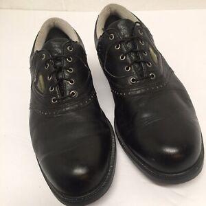 Footjoy Gel-fusion 59953 Black Saddle Soft Spike Golf Shoes Men's US 9.5