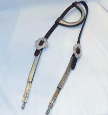 Vintage Sterling Silver One Ear Show Bridle Headstall Ruby Snake Eyes Bit Clips