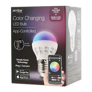 TikTok Vibe Color Changing Smart RGBW LED Bulb - BT App & Remote Control Options
