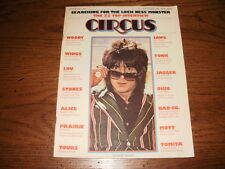 VINTAGE CIRCUS MAGAZINE SEPTEMBER 1975 ZZ TOP RON WOOD STONES KISS ALIVE AD