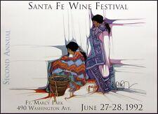"Amado Pena ""Santa Fe Wine Festival""offset lithograph HAND SIGNED"