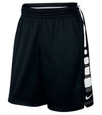 "Nike ELITE Stripe 9"" Men's Black Dri-Fit Basketball Shorts (718378 011) - SMALL"