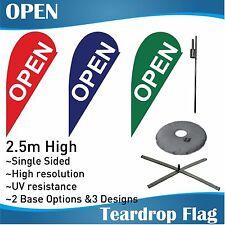 2.5m Outdoor OPEN Flag Teardrop Banner Teardrop Flags with Base