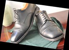 SILVANO LATTANZI for JIL SANDER Calfskin Black Derby Cap Toe Men's Shoes 10 US