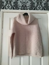 Ladys M&S Autograph Cream Long Sleeved Roll Neck Fluffy Jumper Size 12