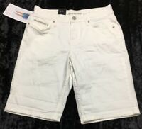 Calvin Klein Jeans City Short Rolled Hem Shorts White Light Women 4 NWT