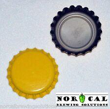 144 Plain Unused YELLOW OXYGEN ABSORBING BOTTLE CAPS Crowns Beer Soda Homebrew