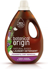Botanical Origin Concentrated Eco Laundry Detergent, Fresh Jasmine & Lavender, L
