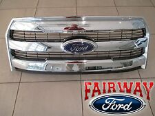 15 thru 17 F-150 OEM Ford Chrome Grille Mesh Insert Grill w/o Camera WITH Emblem