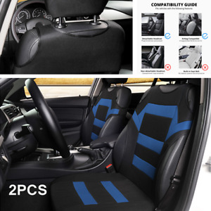 2x Car Front Seat Cover Universal Protector Car Accessories Interior Black/Blue