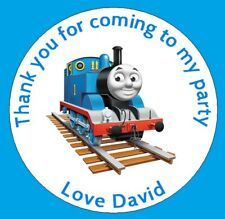 48 X Personalised Thomas The Tank Birthday Party Thank You Sweet Cone Stickers