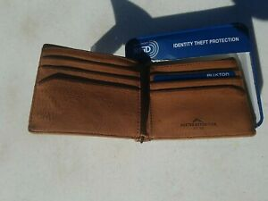 Buxton Expedition RFID Protected Bifold Wallet Canvas color Tan