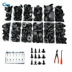 Plastic Rivets Fastener Fender Bumper Push Pin Clips With Remover Tool 240Pcs