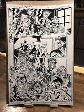 """OA """"BATMAN & ROBIN ETERNAL"""" / Paul Pelletier / Issue 19 / Pg. 15 Inks / 11""""x17"""""""