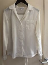 The White Company Silk Piped Pyjama Set Size XS